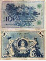 1OO Marks - Bleu Et Rouge (50181) - [ 2] 1871-1918 : Empire Allemand