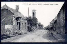 Rosières Après La Grande Guerre - La Place Du Marchè Et L'Eglise (80) - Rosieres En Santerre