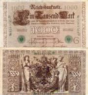 1000 Marks - Brun Et Vert     (50188) - [ 2] 1871-1918 : Empire Allemand