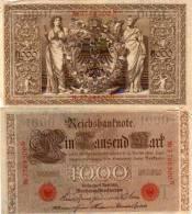 1000 Marks - Brun Et Rouge     (50189) - [ 2] 1871-1918 : Empire Allemand