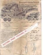 Lettre Joliment Illustrée De 1907 - BASTOGNE - J. LEBRUN-LAMBOTTE - Briqueterie à Vapeur, Commerce De Bois - Belgique