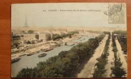 France - Paris - 47 - Panorama De La Seine, (côté Ouest) - 1906 - Colorisée - Die Seine Und Ihre Ufer