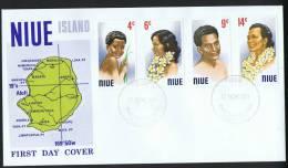 NIUE  1971  People Of Niue   Unaddressed FDC - Niue