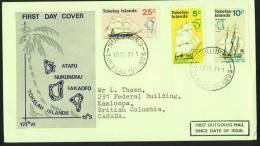 TOKELAU   Discovery Of Tokelau Islands Ships And Maps FDC To Canada - Tokelau