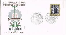 0132. Carta GIJON (Asturias) 1975.  Feria Muestras - 1931-Hoy: 2ª República - ... Juan Carlos I