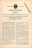 Original Patentschrift - J. Tussaud In Salisbury House , London , 1887 , Pelz - Maschine , Pelze !!! - Tools