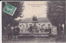 CPA 02  HARTENNES  &  TAUX FONTAINE ET ECOLE - France