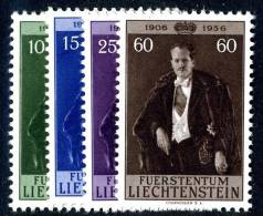 L0276) LIECHTENSTEIN 1956  Mi.#348-51  Mint* - Liechtenstein