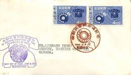 1956  Automatic Telephone    Sc 39 X 2   On FDC To Canada - Ryukyu Islands
