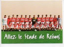 Ref 100  : Carte à Pub Allez Le Stade De Reims 97/98 - Calcio