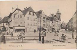 CPA 67 WEISSENBURG WISSEMBOURG Bei Der Salzbrücke Carte Allemande Timbre 1908 - Wissembourg