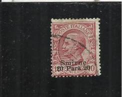 LEVANTE SMIRNE 1909 - 1911 SOPRASTAMPATO D´ITALIA ITALY OVERPRINTED 20 PA SU 10 CENT USATO USED OBLITERE´ - Bureaux Etrangers