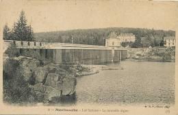 Montsauche 8 Les Settons La Nlle Digue BF Cachet Chaumard Vers Bourges - Montsauche Les Settons
