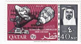 Qatar,1966 Sapce Renndez-vous Overprinted DOUBLE In Black, Extr. Rare MNH- SKRILL PAYMENT ONLY - Qatar