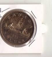 PIECE CANADA  ARGENT 1 DOLLAR 1953 - Canada