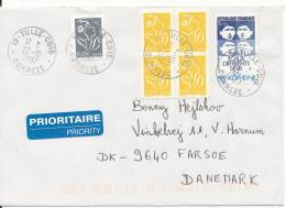 France Cover Sent To Denmark Tulle - Cdis Correxe 22-10-2007 With More Stamps - France
