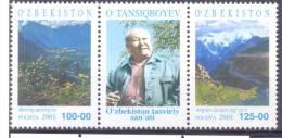 2001. Uzbekistan, Ural Tansiqboyev, Painter, 2v + Label,  Mint/** - Uzbekistan