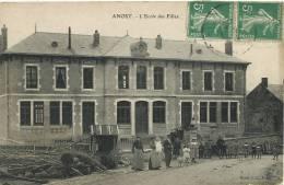 Anost L Ecole De Filles Edit Bacot Cliché E. Caius Autun - Autres Communes
