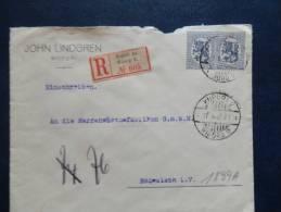 A1899A    LETTER 1923  REGISTRED - Finlandia