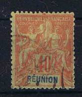 Reunion: Yv Nr 41 Used /obl, Maury Cat Value € 38 - Reunion Island (1852-1975)