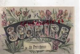 03 -  FRANCHESSE -  UN SOURIRE   ENFANT FEMME  FLEURS - 1907