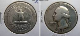 USA  QUARTER DOLLAR - 25 CENTS 1942 - Emissioni Federali