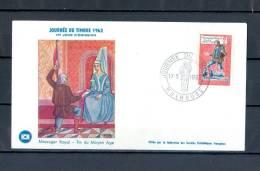 FRANCE  PJ JOURNEE DU TIMBRE 1962 MESSAGER ROYAL 17 . 3 . 1962 MULHOUSE - FDC
