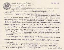 Lettera Autografa Di Luigi Servolini A Marcello Boglione 18 Marzo 1952 - Autographes