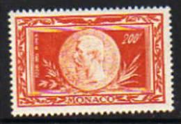 Monaco PA  N° 41 XX Centenaire De La Naissance Du Prince Albert 1er : 200 F.  Rouge-orange  TB - Poste Aérienne