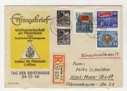 DDR Michel No. 386 B , 393 B , 395 B , 405 gestempelt used auf Brief
