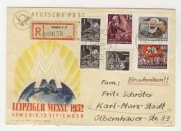 DDR Michel No. 390 B , 392 B , 394 B , 405 gestempelt used auf Brief