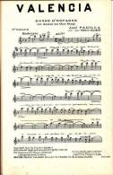 Valencia - Danse D'Espagne - One-Step - José Padilla - 90 Grammes - TBE - Partitions Musicales Anciennes