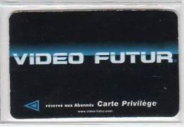 """VIDEO FUTUR - PRN 30 - Carte """"PRIVILEGE"""" noire -"""" SEMAINE """" - TRES RARE - utilis�e -E.C"""