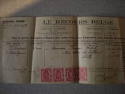 Le Recours Belge ( Incendie) 1942 - Vieux Papiers