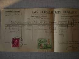 Le Recours Belge ( Incendie) 1944 - Oude Documenten