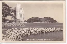 Brazil Cartao Postal Sao Vicente Praia Foto Ca1940 Vintage Original Postcard Cpa Ak (W3_854) - São Paulo