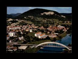 25 - BAUME-LES-DAMES - Vue Aérienne - Le Pont Sur Le Doubs Et Vue Sur Cour - Baume Les Dames