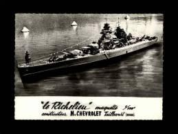 25 - TAILLECOURT - Le Richelieu - Maquette - Constructeur M. Chevrolet à Taillecourt - Bateau De Guerre - - Autres Communes