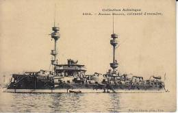 """- Carte Bateau - """" Amiral Baudin """" Cuirassé D'Escadre - - Guerra"""