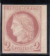 COLONIES GENERALES  - RARE YVERT N° 15 * - COTE = 550 EUR. - SIGNE BRUN - Cérès