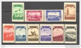 MA186STV-LFT30472TARM.Maroc .Marocco.MARRUECOS  ESPAÑOL PAISAJES  1938 (Ed 186/95*)con Charnela.MAGNIFICA - Mezquitas Y Sinagogas