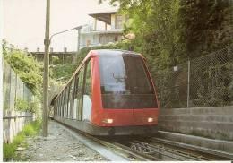 Nº354 POSTAL DE ESPAÑA DE UN FUNICULAR DE MONTJUIC EN BARCELONA (TREN-TRAIN-ZUG) AMICS DEL FERROCARRIL - Trenes