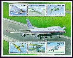 TANZANIA  1954 MINT NEVER HINGED MINI SHEETS OF AVIATION - Vliegtuigen