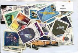 100 Timbres Thème Espace - Collections
