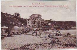 64. GUETHARY . SUR LA PLAGE DEVANT LE CASINO L'ETABLISSEMENT ET L'HOTEL ITSASOAH. Editeur  LABOUCHE - Guethary