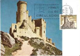1882 POSTAL DEL CASTILLO DE PEÑAFIEL DEL AÑO 1968 ( PRIMER DIA DE CIRCULACION) - Tarjetas Máxima