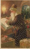 Père Noel Gaufrée Robe Violette  Dorée Santa Klaus Embossed Purple  Robe - Santa Claus