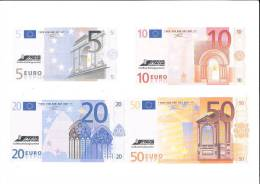 Deutschland Neuer Euro Entwurf - Banknoten Satz Aller Scheine 5 +10 + 20 + 50 + 100 + 200 + 500 Euro Für Probelauf - EURO
