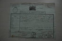 Révolution Douay, Certificat Présence Au Corps 8è Rgt François Marie Chiodo Né à Alexandrie, 1792? - Handtekening