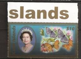 Cook 2007 N° 1288 ** Courant, Elisabeth II, Reine, Papillons, Fleurs - Cook Islands